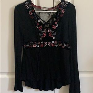 Alter'd State Lace Up Blouse